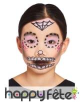 Maquillage visage Le jour des morts pour enfant, image 5