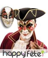 Masque visage vénitien en papier maché