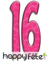 Nombre d'anniversaire géant en carton plat, 171cm, image 1