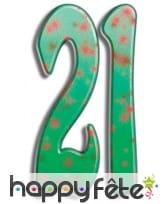 Nombre d'anniversaire géant en carton plat, 171cm, image 3