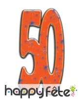 Nombre d'anniversaire géant en carton plat, 171cm, image 6
