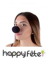 Nez de clown noir en mousse