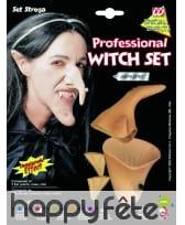 Nez de sorcière avec menton et oreilles