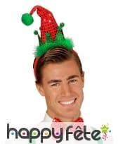 Noeud papillon et chapeau pointu pailleté de Noël, image 1