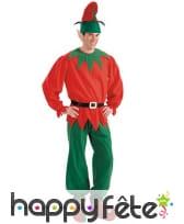 Oreilles, bonnet et surchaussures d'elfe de Noël