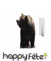Ours brun en carton taille réelle