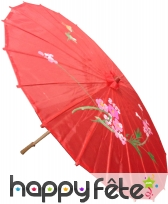 Ombrelle chinoise en tissu rouge