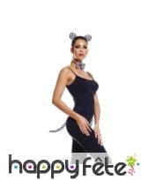 Oreilles de léopard, noeud et queue pour femme