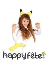 Oreilles et queue de Pikachu pour enfant