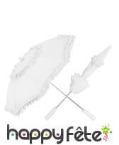Ombrelle galon dentelle blanche, image 1