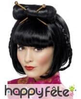 Perruque asiatique avec chignon, image 1