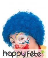 Perruque afro bleue pour enfant, image 2