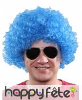 Perruque afro bleue unie, image 2