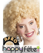 Perruque afro BLONDE, image 1