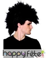 Perruque avec crète punk noire, image 1