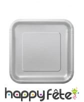 Petites assiettes carrées en carton de 17cm, image 3