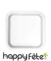Petites assiettes carrées en carton de 17cm, image 4