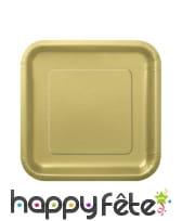 Petites assiettes carrées en carton de 17cm, image 5