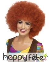 Perruque afro des années 60, châtain