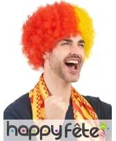 Perruque afro drapeau Espagnol