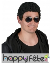 Perruque afro noire courte pour homme