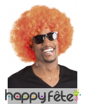 Perruque afro orange, image 1