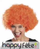 Perruque afro orange, image 2