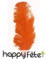 Plume autruche orange 32 cm