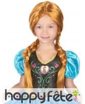 Perruque Anna pour enfant, La Reine des Neiges