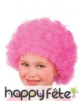 Perruque afro rose pour enfant, image 2
