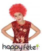 Perruque afro rouge pour enfant