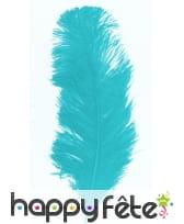 Plume autruche turquoise 32 cm