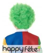 Perruque afro verte pour enfant, image 1