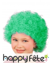 Perruque afro verte pour enfant, image 2