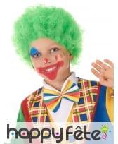 Perruque afro verte pour enfant