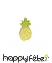Petit ananas vert et jaune en bois de 12 cm