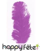 Plume autruche violet 32 cm