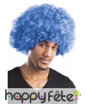 Perruque bleue afro, image 2