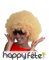 Perruque blonde afro