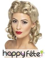 Perruque blonde années 40