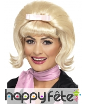 Perruque blonde années 50, montage