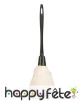 Plumeau blanc avec manche noir, 35cm