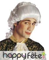 Perruque blanche baroque de marquis