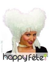 Perruque blanche baroque