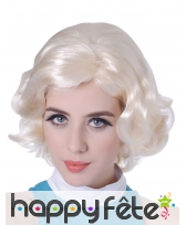 Perruque blonde courte Marylin Monroe