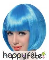 Perruque bob courte bleu aqua, image 1