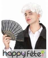 Perruque blanche de marquis pour homme