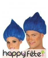 Perruque bleue de troll pour adulte, image 2