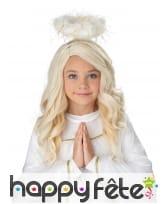 Perruque blonde d'ange pour enfant