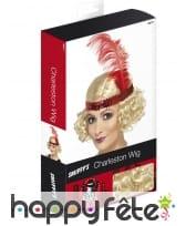 Perruque blonde de Charleston avec bandeau, image 1